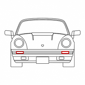 Dichtung Blinkergehäuse vorne in Stoßstange rechts und links gleich für Porsche 911 74 - 89