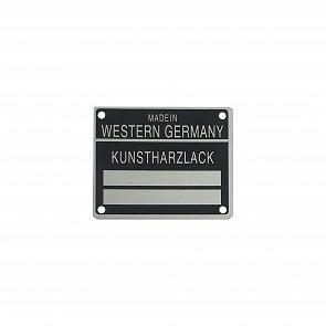 Kunstharzlack Blechschild für Porsche 911 65 - 80