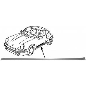 Einstiegsschwellerleiste Alu innen für Porsche 911 65-73