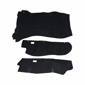 Kofferraumteppichsatz schwarz Filz für Porsche 911 ohne Bremskraftverstärker 73 - 76