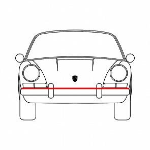 Dichtung zwischen Stoßstange und Karosse vorne für Porsche 911 F Modell