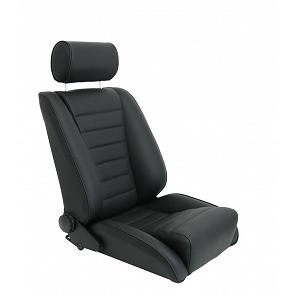 Sitz Recaro-S Replica GTR81 Leder / Leder schwarz für Porsche 911 bis 89